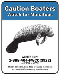 FWC manatee & waterway signs